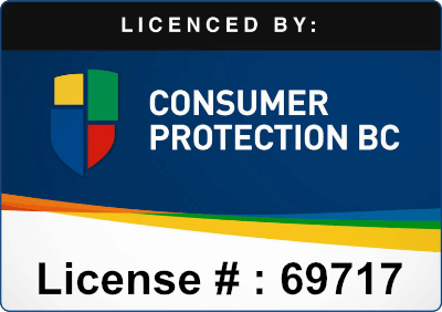 Licensed by Consumer Protection BC | License # : 69717